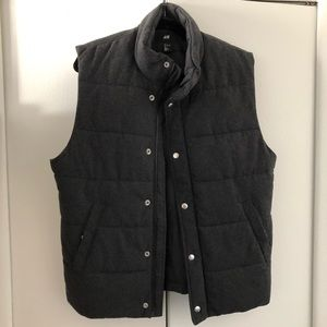 Fashionable snap button and zip vest